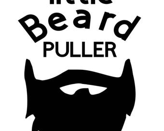 Daddy's Beard Puller Iron- on Decal