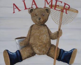 CANVAS Teddy bear children's bedroom - Ref. The sea