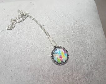 big colorful necklace with pineapple