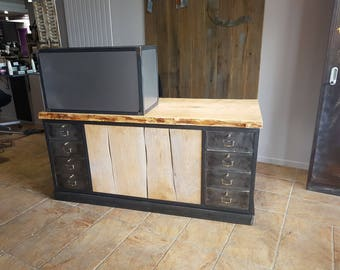 Industrial style checkout counter