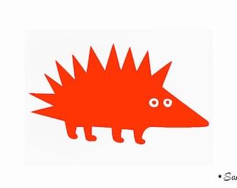 orange applique childish Hedgehog fusible