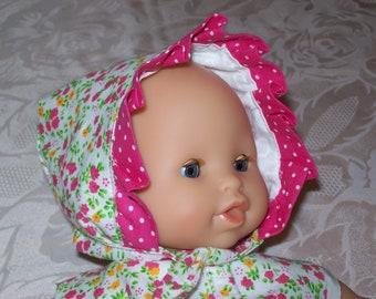 crush on infants or dolls of 30 cm tidoo, hug: printed liberty style