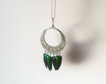 Necklace elytras beetle wings
