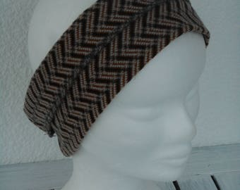 fashionable headband headband earmuffs linen ' eva Brown woman