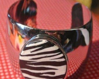 Zebra effect bracelet
