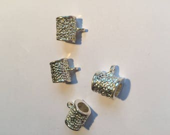 set of 4 beautiful silver plated bail