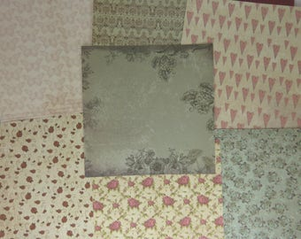 "Assortment of paper texture glittes ""mirabelle"""