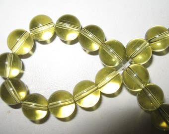 40 color taupe glass beads clear 8mm
