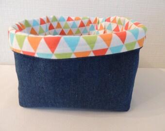 Basket / reversible fabric basket