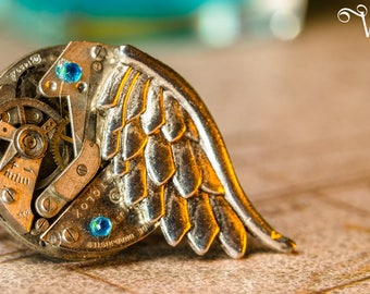 Ring adjustable steampunk - the wing mechanical engineering