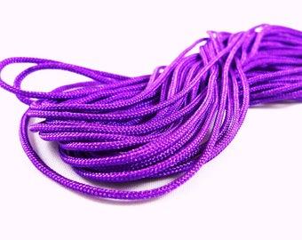 5 m purple shamballa macrame cord 1 mm (fil15)