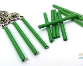 Green: 20 31x2mm (pv589) glass tubes