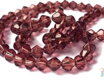 1 strand of 80 beads in transparent purple glass, 4mm (pv445)