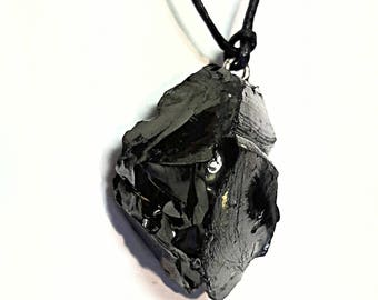 elite shungite pendant shungite jewelry women men pendant karelian shungite pendant shungite necklace black stone pendant protection amulet