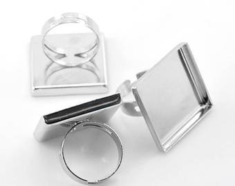 20 MM / 5 Supports ring 20 mm cabochon