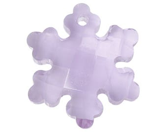 1 Purple faceted Crystal snowflake charm/pendant