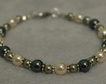 """Pearl bracelet """"Sparkles in the Jungle"""""""