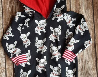French Bulldog Hoodie size 62