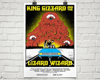 A2 King Gizzard & The Lizard Wizard limited edition screen print