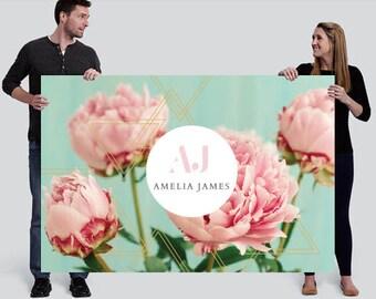 Amelia James Banner (LARGE - 4' x 6') | PEONY