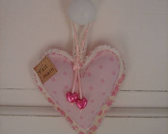 Heart fabric to hang on a door handle
