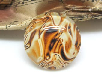 1 cabochon 25 mm glass 2-25 mm Gold Collection