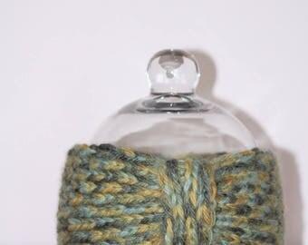 Green knit headband