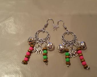 Earrings with Bell charm
