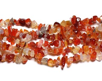 Wire 89cm 260pc env - stone beads - carnelian rock Chips 5-10mm