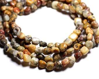 Wire - beads - 39cm Nuggets 8-10mm Crazy Agate
