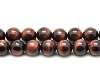Stone - Bull's eye beads 1 strand 39cm balls 4mm