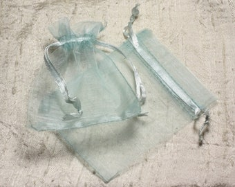 10pc - bags jewelry 10x8cm 4558550002983 sky blue Organza gift bags
