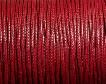 5 Metters - 1.5 mm red Bordeaux 4558550010100 wax cotton cord