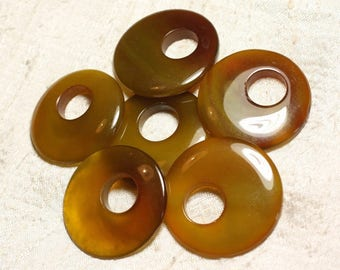 1pc - Donut pendant 42-46mm 4558550003966 Orange yellow Agate stone