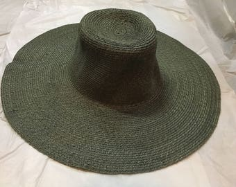 Sewn sisal straw hat body for millinery
