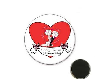 Custom wedding Magnet 32 mm magnet