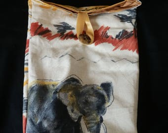 bag oven all elephant pattern
