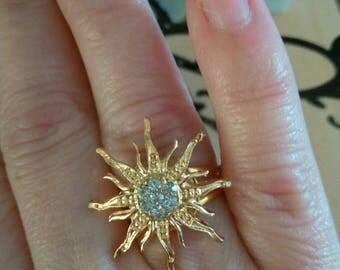 summer gold metal ring