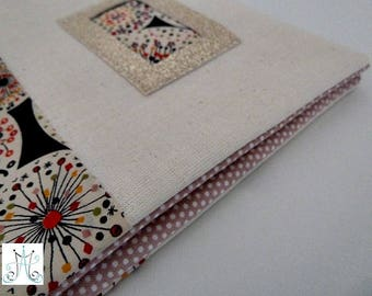 Book of health - Duo of ecru fabric and Liberty rose black