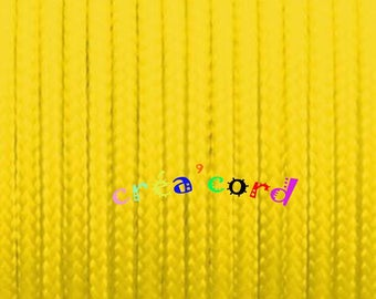 Yellow Paracord type I 2mm cord 2mm