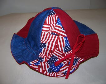 Patriotic baby hat