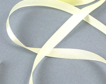 2 M Ribbon satin yellow straw with 10 mm wide X 1 meter