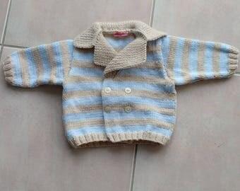 small vest striped three colors