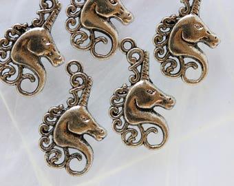 metal Unicorn charm