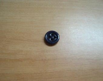 blue glass buttons dark four hole