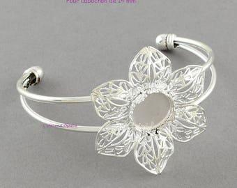 Bracelet flower filigrees, for 14 mm cabochon