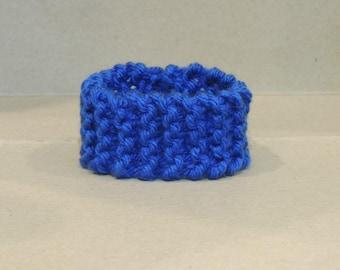 Benevolent Blue Knitted Bracelet