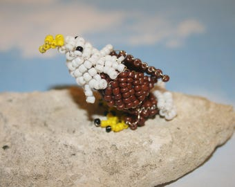 Beaded animals: Eagle of beads