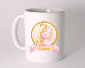"""""""Princess and her cat"""" custom ceramic MUG"""