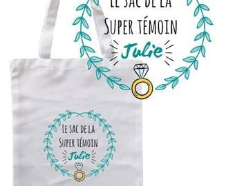 """Personalized TOTE BAG 100% cotton """"super witness bag"""""""
